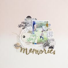 #papercraft #scrapbook #layout. Memories of watching huge cows in the backyard by mojosanti at @studio_calico