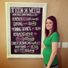Weekly chalkboard updates. Gender predictions. Gender reveal