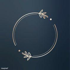 Round floral design logo vector premium image by wan Fond Design, Circle Design, Web Design, Round Logo Design, N Letter Design, Creative Logo, Creative Crafts, Logo Rond, Ideas Para Logos