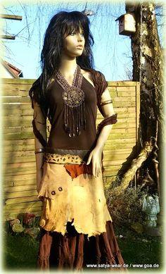 lederzipfelrock goastyle Goa, Outfit, Lace Skirt, Bohemian, Skirts, Style, Fashion, Middle Ages, Leather