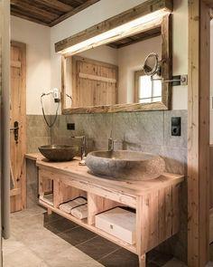 The latest trend in bathroom design are ideas for the rustic bathroom. Rustic Bathroom Designs, Rustic Bathroom Vanities, Bathroom Interior Design, Small Bathroom, Bathroom Ideas, Relaxing Bathroom, Bathroom Organization, Bathroom Storage, Modern Bathroom