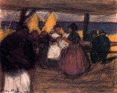 Snackbar in the  open air, 1900 - Pablo Picasso