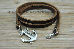 Man's Leather Bracelet Brown Leather by BraceletTribal on Etsy, $5.99 Fashion cuff bracelet, Christmas gifts