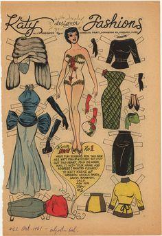 Katy Designer Fashions #62  Oct 1961