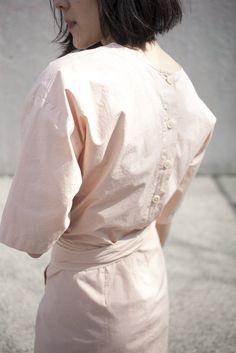 Caron Callahan Pia Dress in Melon Poplin | Oroboro | Brooklyn, New York