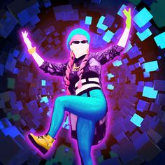Aurora Disney, Disney S, Just Dance 2017, Dance Wallpaper, Map Background, Song Artists, Square Patterns, Pictogram, Black Eyed Peas