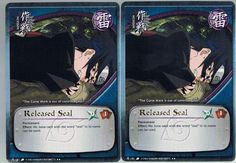 2x M-151 Released Seal Gold Letters Rare #Naruto Cards FREE COMBINED SHIPPING