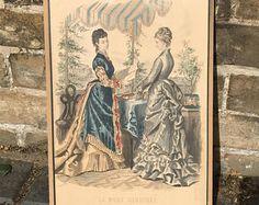 Vintage late 1800s la mode illustree bureaux du journal 56 rue
