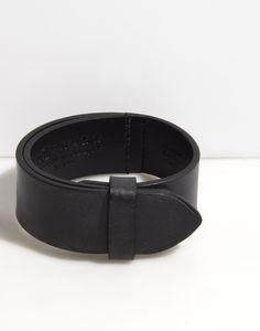 MAISON MARTIN MARGIELA 11, BRACELET: black. leather. strap. $140