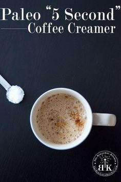 Homemade Paleo Coffee Creamer - This is a coffee game changer. It only takes a few seconds to whip up (w/ the Vitamix) & is a clean eating option for those of you who love flavored coffee creamer. Paleo On The Go, How To Eat Paleo, Dairy Free Recipes, Whole Food Recipes, Gluten Free, Healthy Recipes, Paleo Coffee Creamer, Homemade Coffee Creamer, Clean Eating Recipes