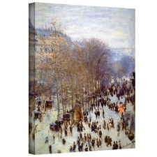 ''Boulevard Capucines'' by Claude Monet Print of Painting on Canvas
