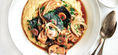Cook up a batch of cheesy polenta to pair with the earthy deliciousness of mushrooms for a sophisticated meal.