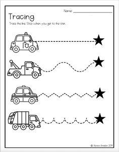 Tracing Worksheets Great for Distance Learning Preschool Schedule, Preschool Centers, Free Preschool, Preschool Themes, Preschool Kindergarten, Preschool Worksheets, Preschool Learning, Teaching Kids, Community Helpers Worksheets