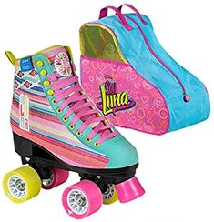 SOY LUNA LTD EDITION patín de ruedas y Skate Bag 33: Amazon.es: Deportes y aire libre Roller Skate Shoes, Roller Skating, Ddlg Outfits, Girl Outfits, Top Shoes, Cute Shoes, Jojo Siwa Bows, Girly Drawings, Baby Alive