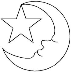 7 inch star pattern. use the printable outline for crafts ... - Coloring Pages Stars Moons