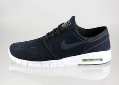 Nike SB Stefan Janoski Max Leather-Black/Black-Cyber Yllw-Wht