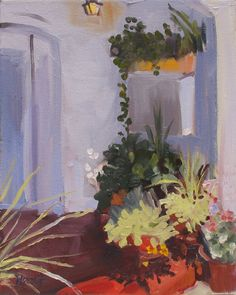 New Paintin..'Private Garden' by Linda Hunt alla by LindaHunt, $90.00