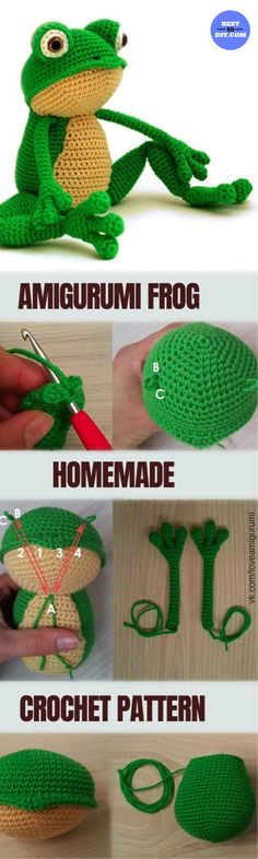 Amirugumi Zoo Collection Free Crochet Patterns #crochet #frog #turtles #pattern #free #beginner #baby