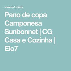 Pano de copa Camponesa Sunbonnet   CG Casa e Cozinha   Elo7