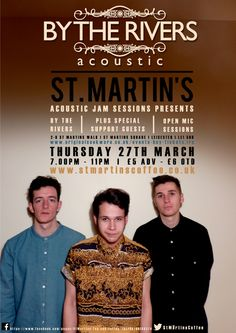 Also, looking forward to next month's Acoustic Sessions at St. Martin's Cafe Bar, with super-talented Leicester band 'By The Rivers'! Thurs 27th March 2014. http://www.thingstodoinleicester.com/st-martins-cafe-bar-events.html
