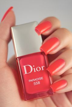 Dior Paradise 558. Spring and Summer.  Not quite Florida's Salmon Pink though!  I WILL find it, oh yes.