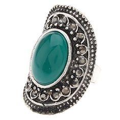 Vintage tibetano de plata ágata Anillo ajustable – CLP $ 3.486