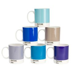 Whitbread + Wilkinson's Pantone Bone China Mug Set of 6 $78.00 3 color sets to choose from new PANTONE UNIVERSE™ logo. Still dishwasher and microwave safe as ever. http://aplusrstore.com/product.php?id=822&cid=64