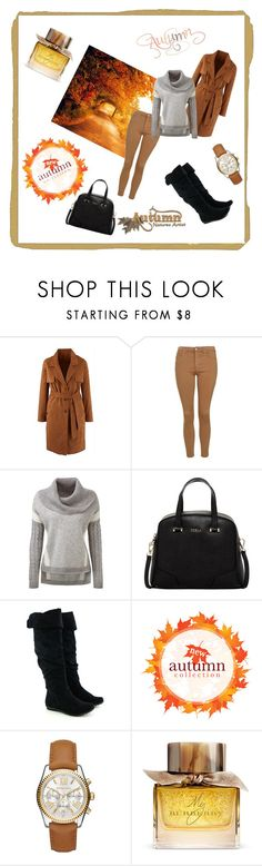 """""""autumn collections"""" by martina215 ❤ liked on Polyvore featuring Topshop, Furla, Michael Kors, Burberry, women's clothing, women, female, woman, misses and juniors"""