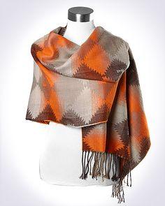 Brown/Orange Shawl $16