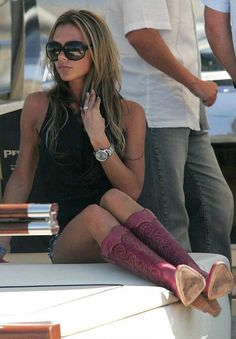 i have these boots in black... of course they're way cuter on her