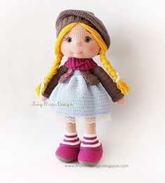 Mesmerizing Crochet an Amigurumi Rabbit Ideas. Lovely Crochet an Amigurumi Rabbit Ideas. Crochet Dolls Free Patterns, Crochet Doll Pattern, Amigurumi Patterns, Amigurumi Tutorial, Doll Tutorial, Mini Amigurumi, Amigurumi Doll, Crochet Amigurumi, Cute Crochet