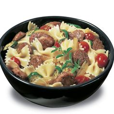 Bowtie Pasta Recipe -There's bow tie pasta. Then there's Your Bowtie Pasta. Make it your own with the great taste of Johnsonville Italian Sausage! —Brought to you by The Kitchen at <b>Johnsonville® Sausage</b>.
