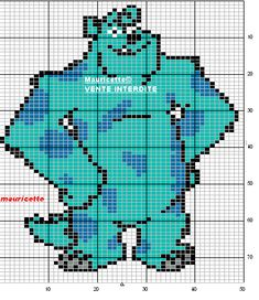 Monsters_Inc Sully perler beads pattern by Mauricette