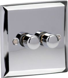 Varilight 2 Gang Double 2 Way 400 Watt Dimmer Switch In Mirror Chrome Is Available From Luxury Lighting & Electrical Supplies. Sockets, Switches & Wiring Accessories At Low Trade Prices.