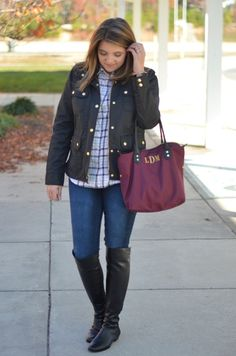 Field Jacket + Plaid - Fizz and FrostingFizz and Frosting