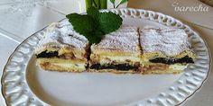 Jablkovo-tvarohovo-makový mrežovník (fotorecept) - recept | Varecha.sk Tiramisu, Brownies, Pie, Treats, Ethnic Recipes, Sweet, Desserts, Food, Basket
