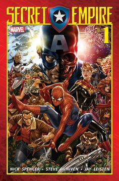 The Avengers, X-Men, Defenders, Inhumans, Champions, and more galvanize as one New York, NY—February 10, 2017— What if your greatest ally was secretly your greatest enemy? Beginning May 3rd, prepare for Marvel Comics'SECRET EMPIRE! Blockbuster creators Nick Spencer, Steve McNiven, Andrea... Avengers, Captain America, Champions, Defenders, HYDRA, Inhumans, Mark Brooks, Marvel, Marvel Comics, Nick Spencer, Secret Empire, Spider-Man, Steve McNiven, Steve Rogers, X-Men