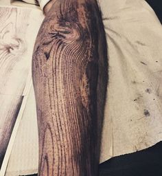 woodgrain tattoo by DAVID ALLEN