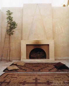 Christian Louboutin home, so simple, so chic, Moroccan Tuareg rugs