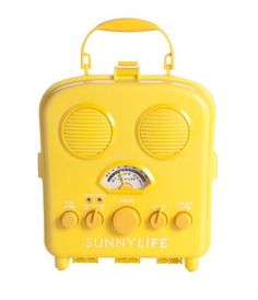 Sunnylife® portable speaker - Craving some sun from down under? Gap has teamed up with Australian brand Sunnylife® to brighten up your beach day accessories. Radios, Copacabana Beach, Sound Speaker, Beach Gear, Sunnylife, Mellow Yellow, Color Yellow, Bright Yellow, Colour