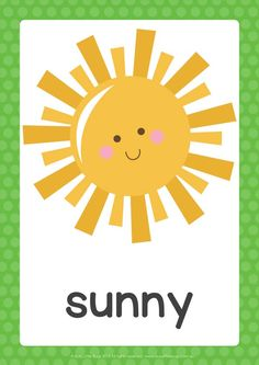Display weather elements and the different seasons in your childs room or day care with our printable sized posters. You will receive 17 Weather Kindergarten, Preschool Weather, Weather Activities, Kids Learning Activities, Montessori Activities, Kindergarten Activities, Teaching Weather, Kids English, Learn English