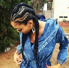Big Cornrows Hairstyle