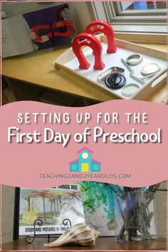 How do you set up your classroom for the first day of preschool? Here are my tips to get your school year off to a good start! #preschool #classroom #backtoschool #firstdayofschool #teachers #teaching2and3yearolds First Day Of School, Pre School, Back To School, Ready For First, Classroom Setting, One Day, The One, Tips, Preschool Classroom