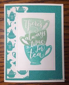 Stampin days; A Nice Cuppa, Have A Cuppa DSP, Stampin' UP!