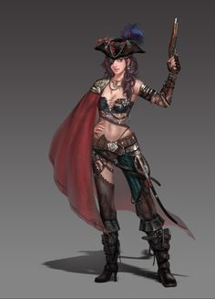 Kai Fine Art is an art website, shows painting and illustration works all over the world. Pirate Art, Pirate Woman, Pirate Crafts, Pirate Ships, Female Character Design, Character Art, Character Creation, Fantasy Characters, Female Characters