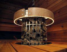 Aggregatskydd med belysning, lyser upp bastun stilfullt! Heaterguard with light in sauna!