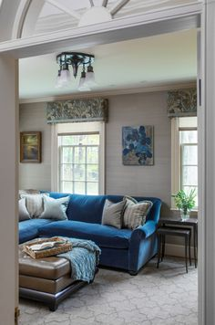 blue sectional   LDa Architecture and Interiors