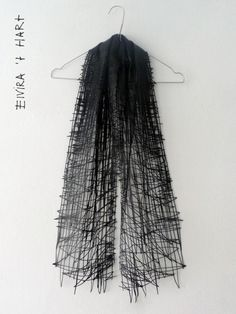 This is too cool...a lasercut leather scarf... Drawn Scarf | Snijlab