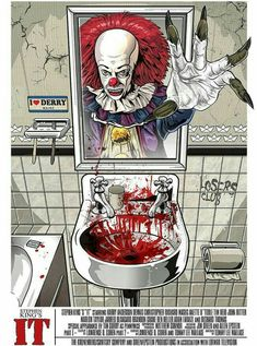 imagenes fantasmas 'FRiEND It Chapter Poster by samanthapie Best Horror Movies, Horror Movie Characters, Scary Movies, Clown Pennywise, Pennywise The Dancing Clown, Horror Posters, Horror Icons, Illustrations Poster, Image Triste