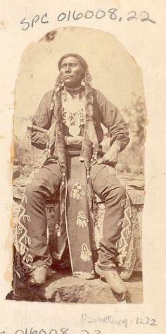 John K. Hillers, Big Spotted Horse, a Pawnee warrior, 1875.